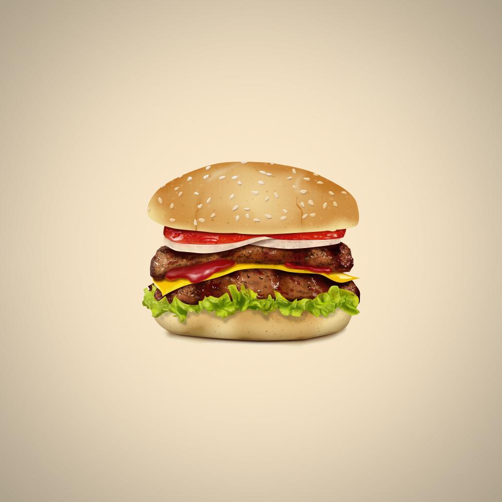 A Delicious Cheeseburger Logo